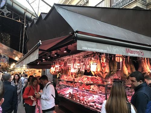 ボケリオ市場のハム