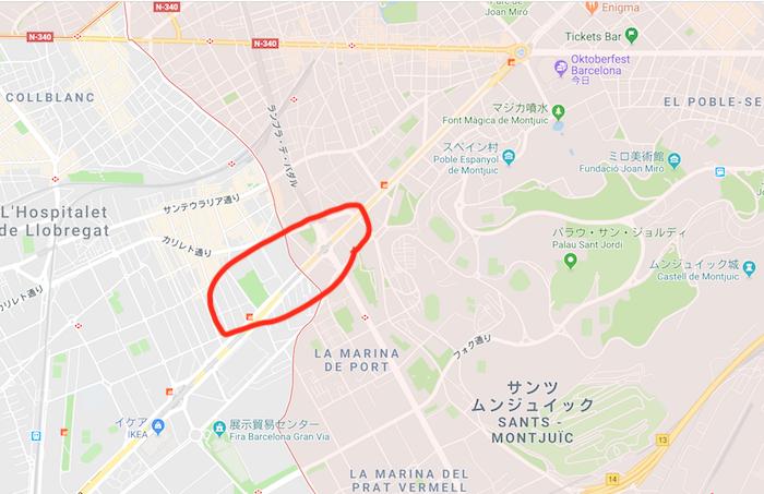バルセロナ渋滞ポイント