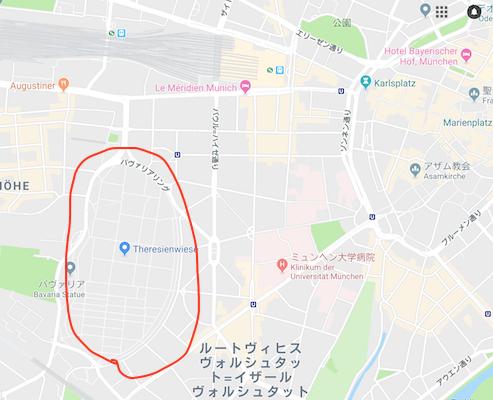 オクトーバーフェスト会場地図