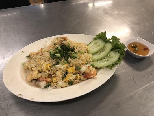 自分の中でバンコク1美味いカオパット(タイ風チャーハン)@ラチャティーウィ